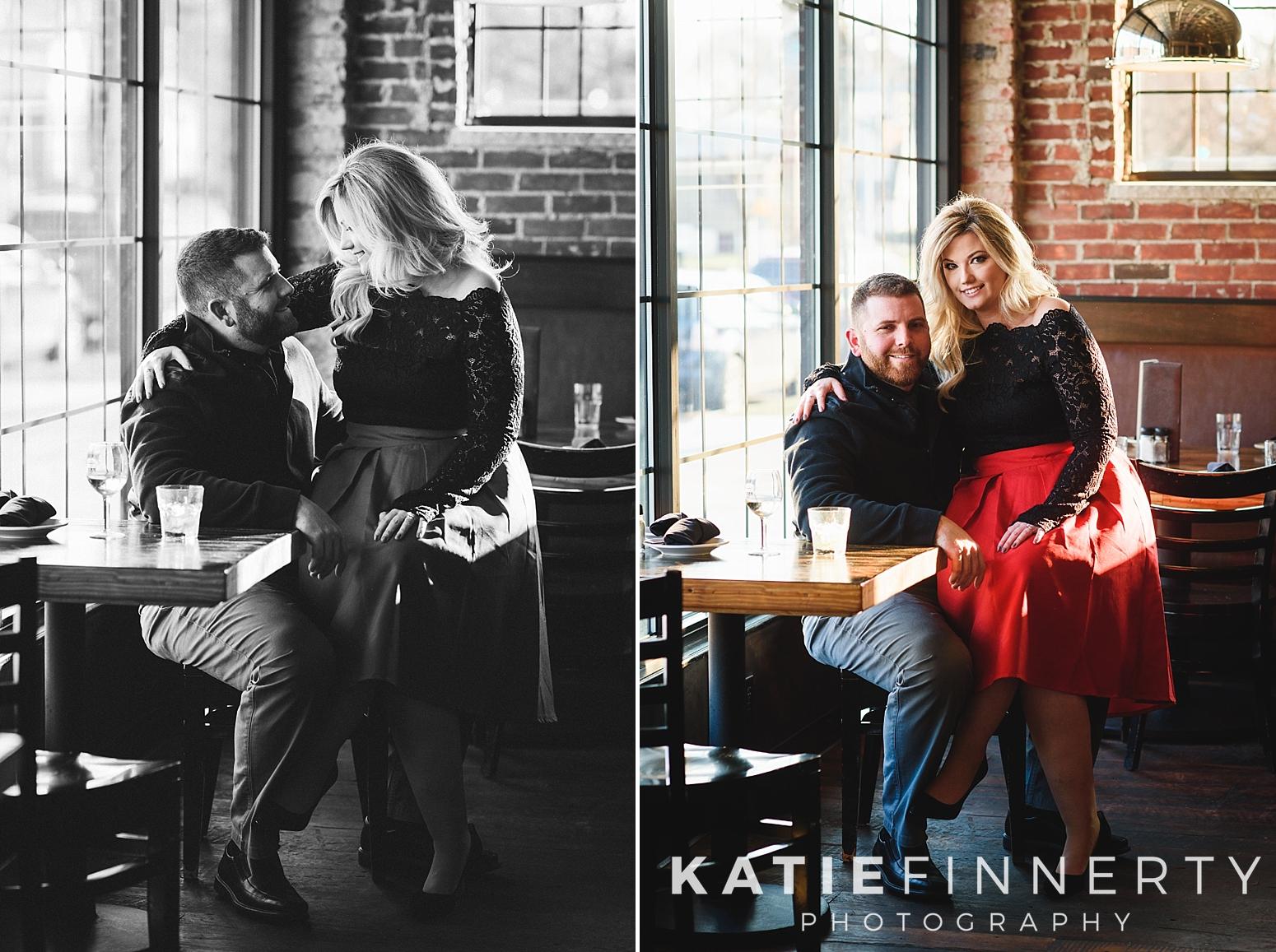 Rochester Restaurant Engagement Session
