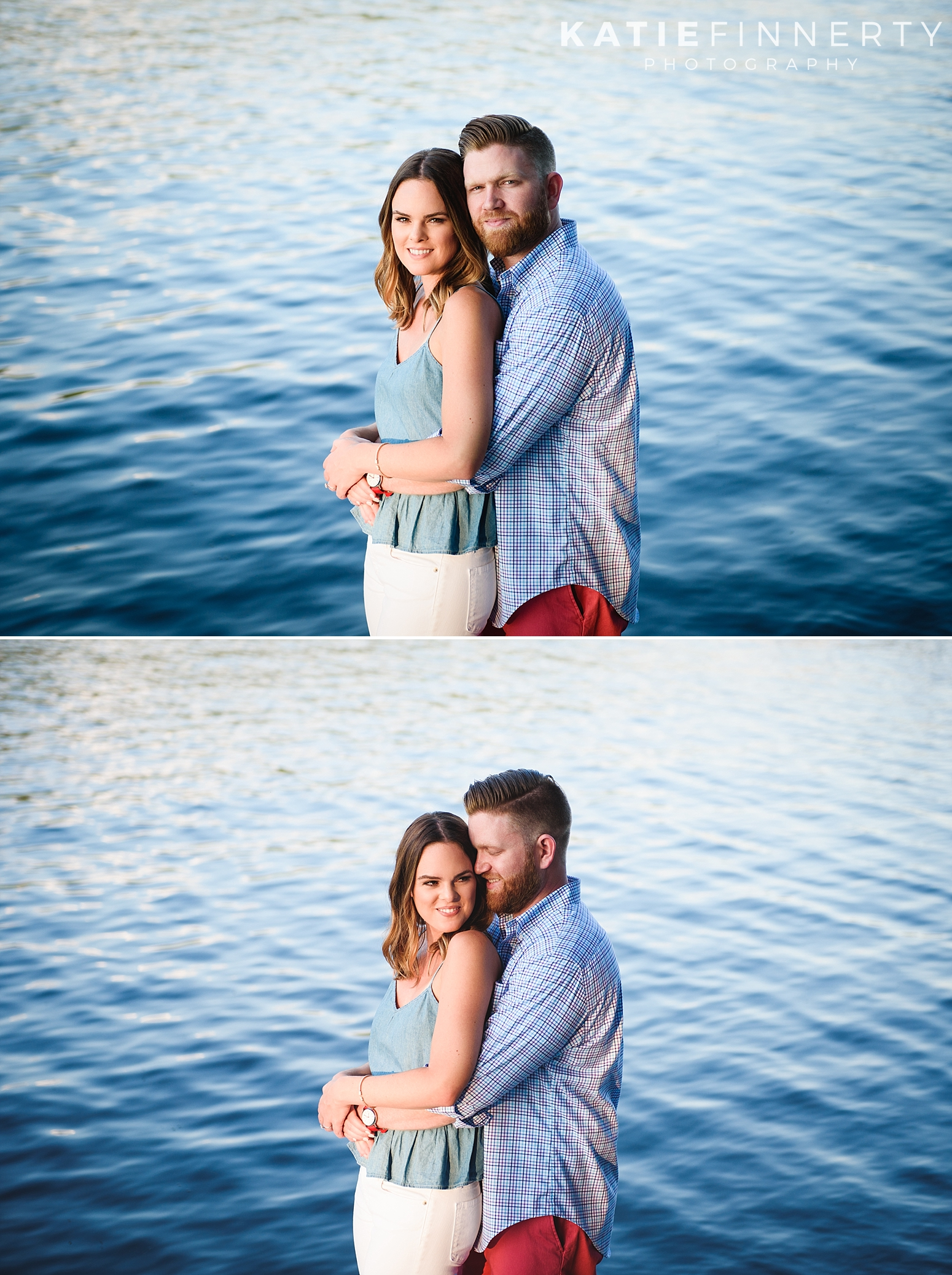 Sacandaga Lake Sunset Engagement Photography