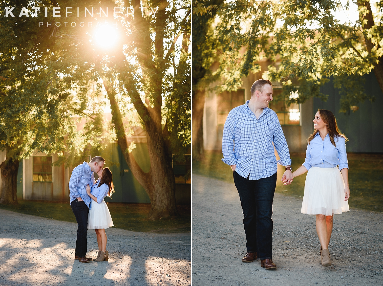 Indian Ladder Farms Apple Orchard Engagement Photography