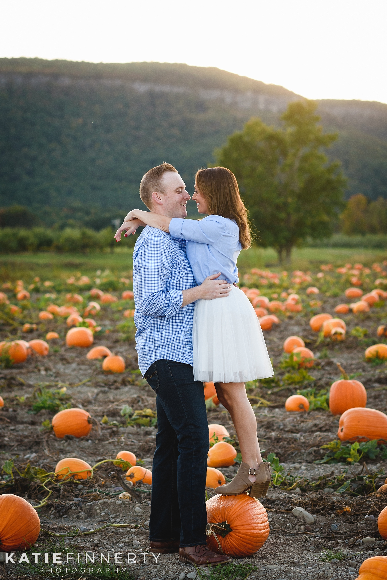 Indian Ladder Farms Pumpkin Patch Engagement Session