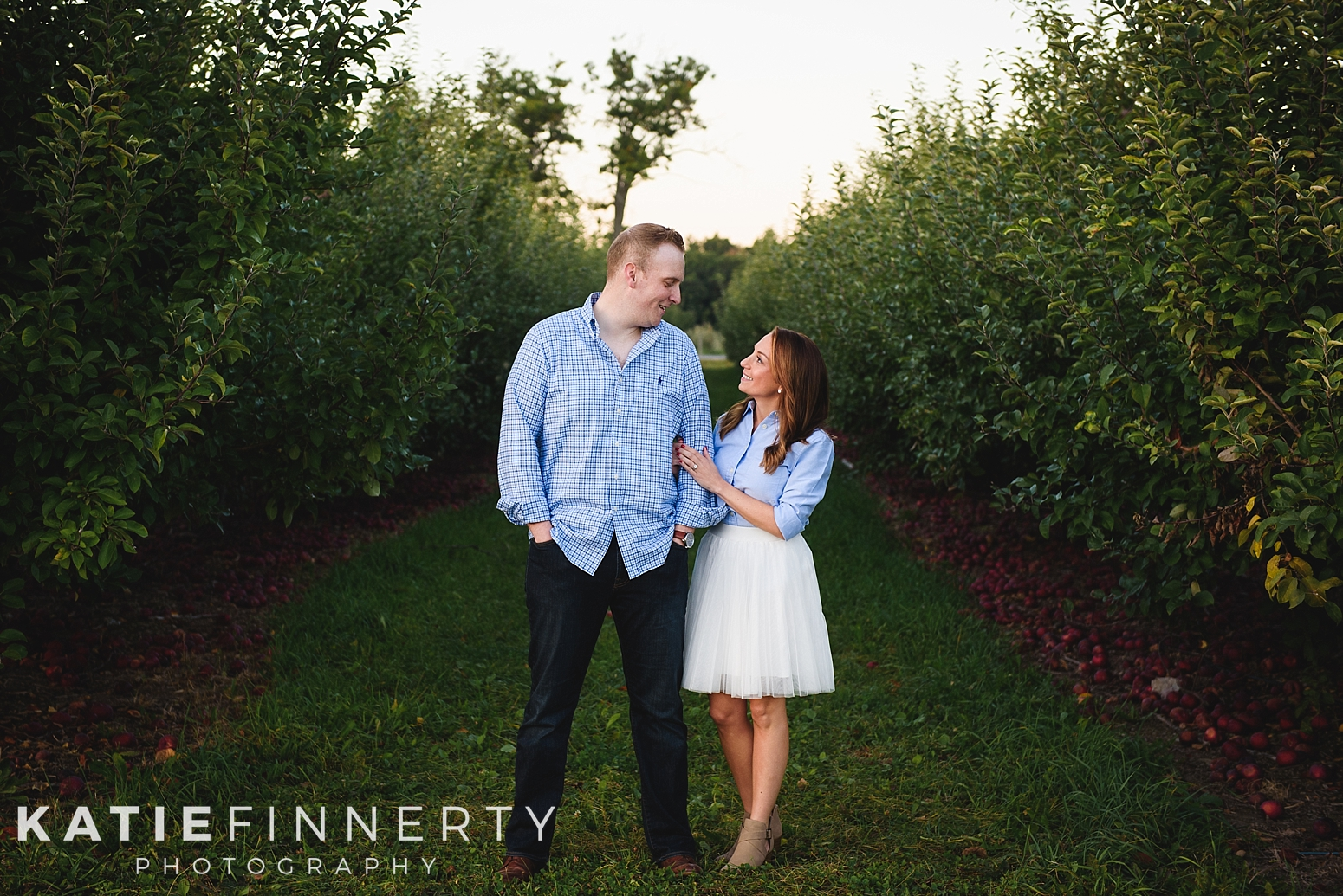 Indian Ladder Farms Apple Orchard Engagement Session