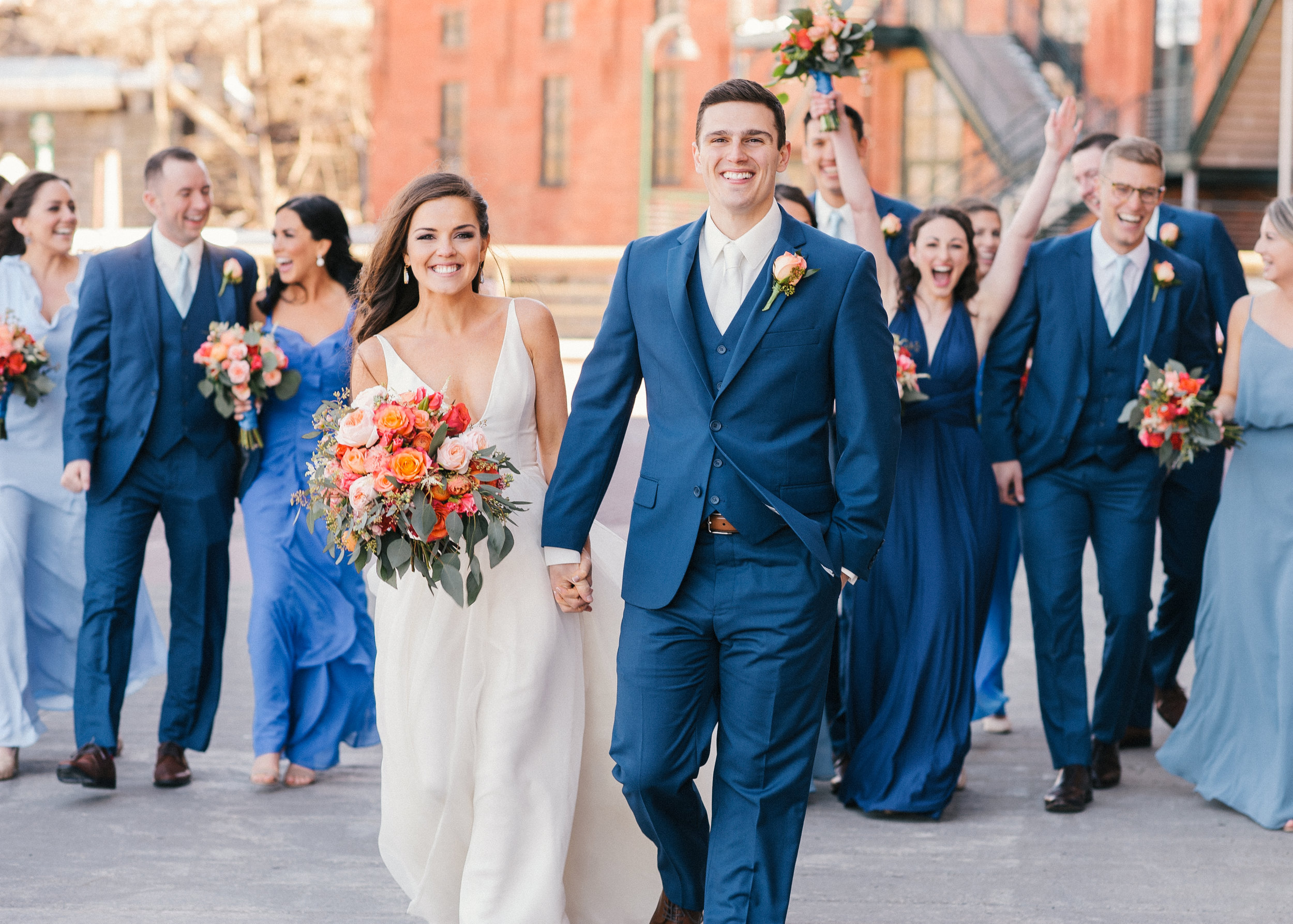 OUR WEDDING! - You can see looking through my photographs that I'm a big fan of bold, bright colors, so that definitely came through on our wedding day!