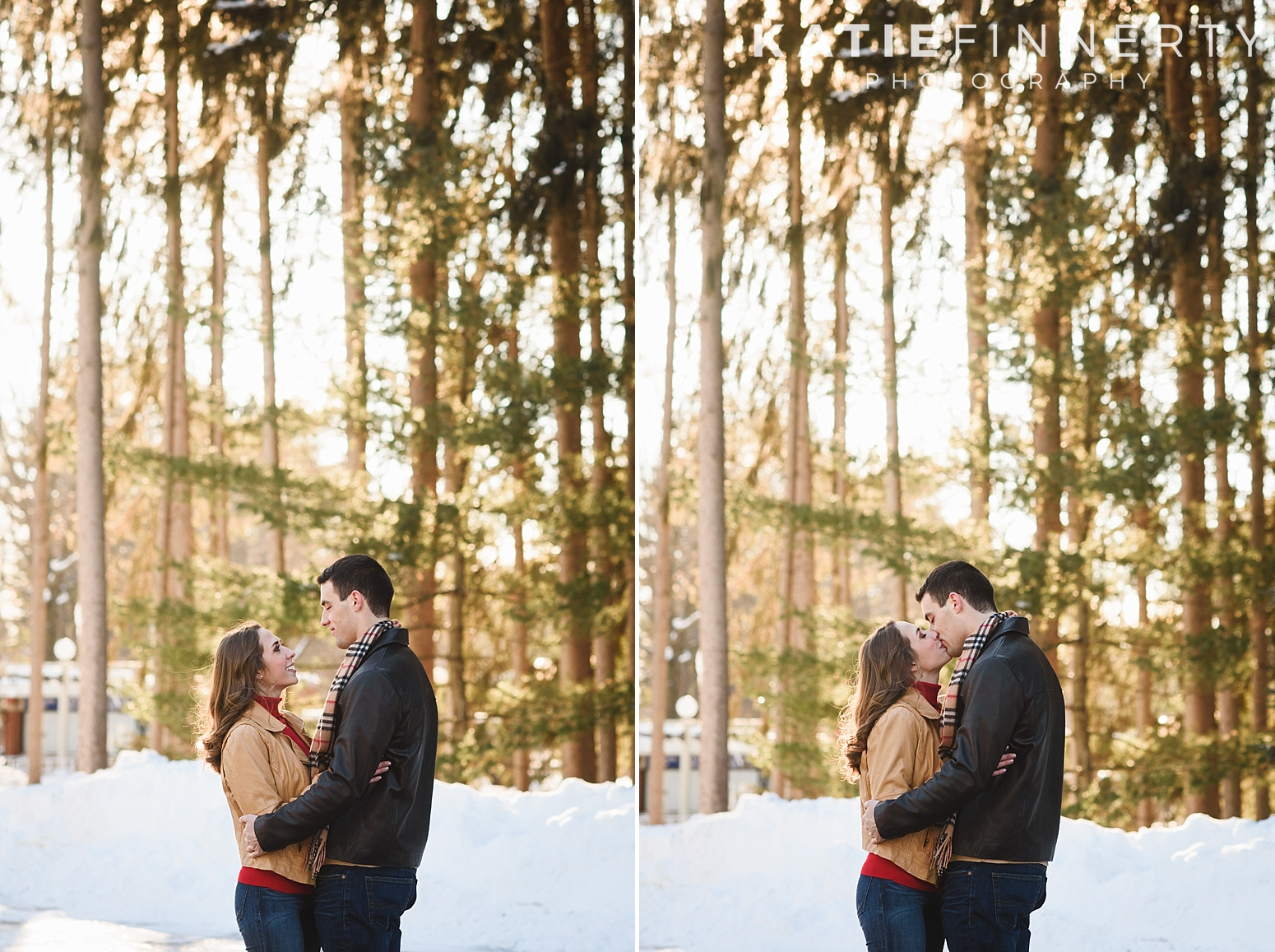 Saratoga Springs Winter Engagement Session Photography