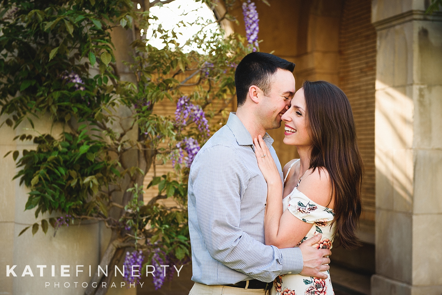 George Eastman House Gardens Rochester Engagement Session Photography