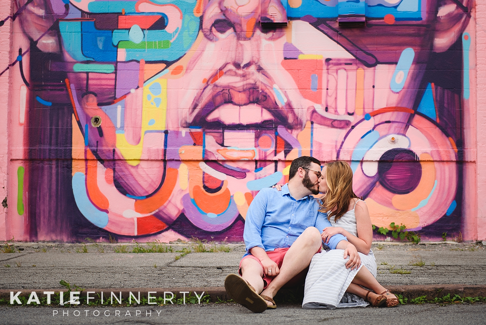 Rochester Street Art Engagement Session Photography