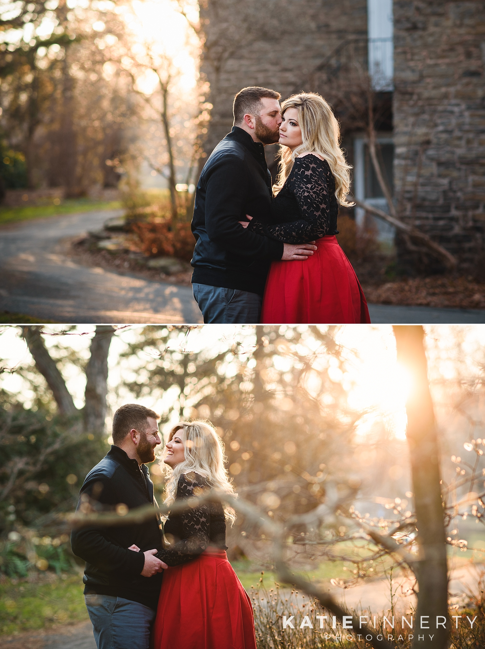Highland Park Rochester Winter Engagement Session Photography