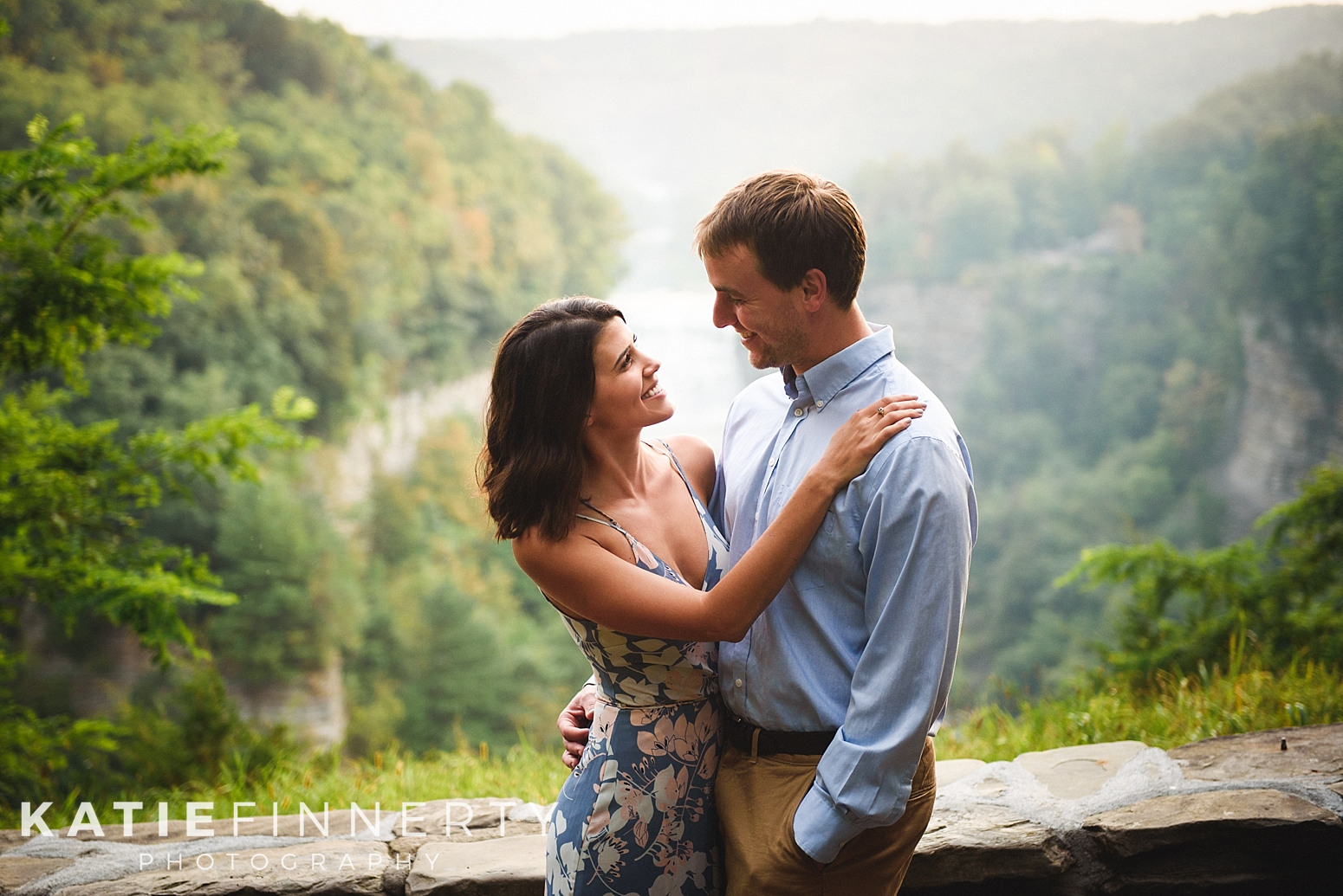 Letchworth Park Finger Lakes Engagement Session Photography