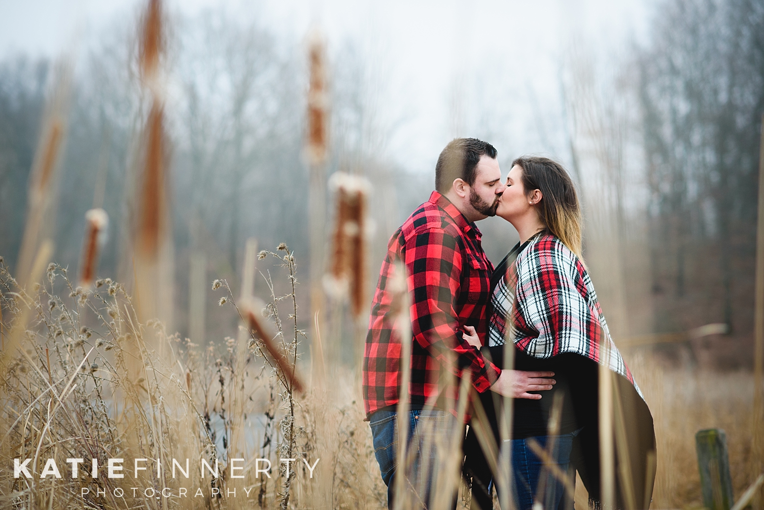 Mendon Ponds Park Rochester Winter Engagement Session Photography