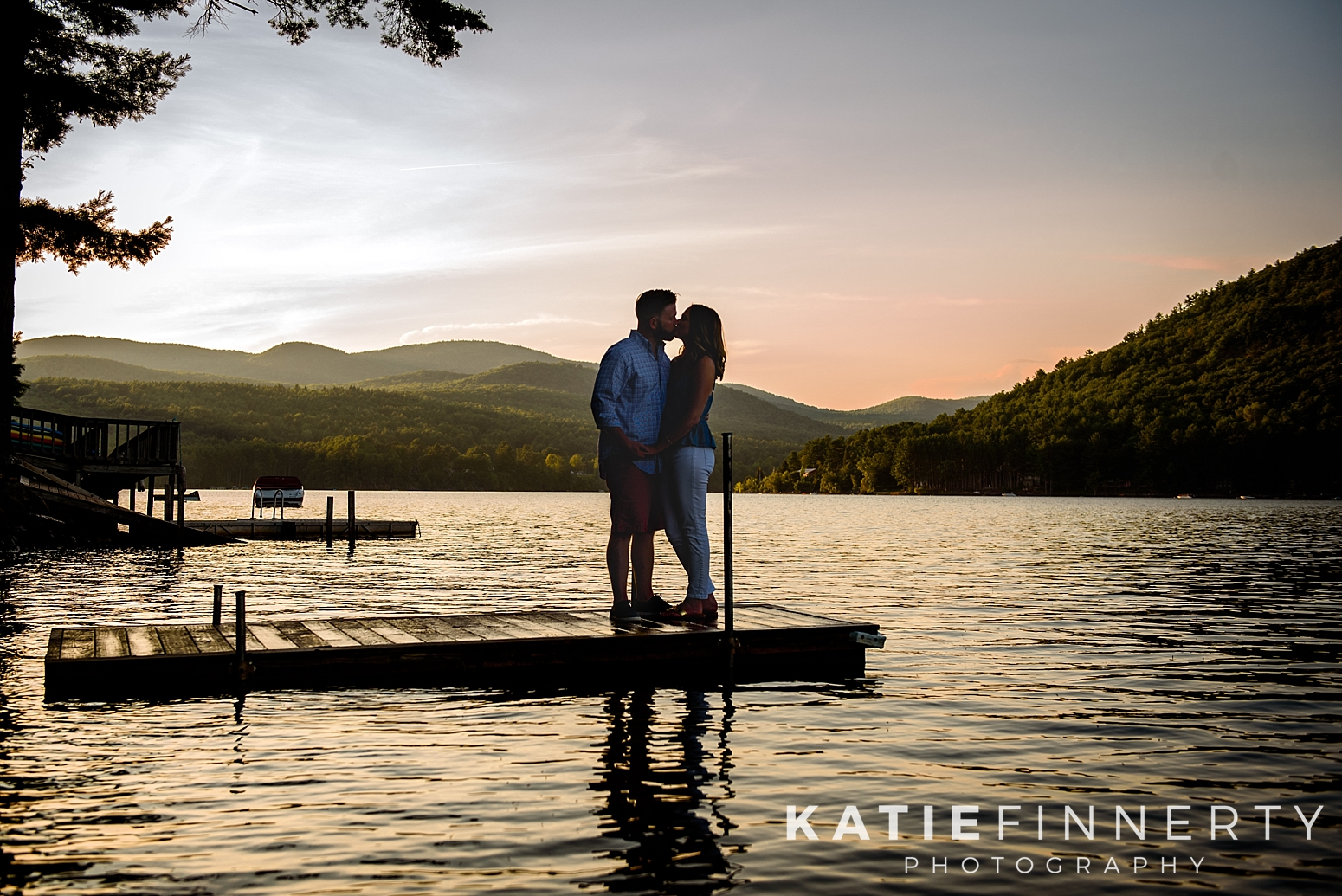 Sacandaga Lake Adirondacks Engagement Session Photography
