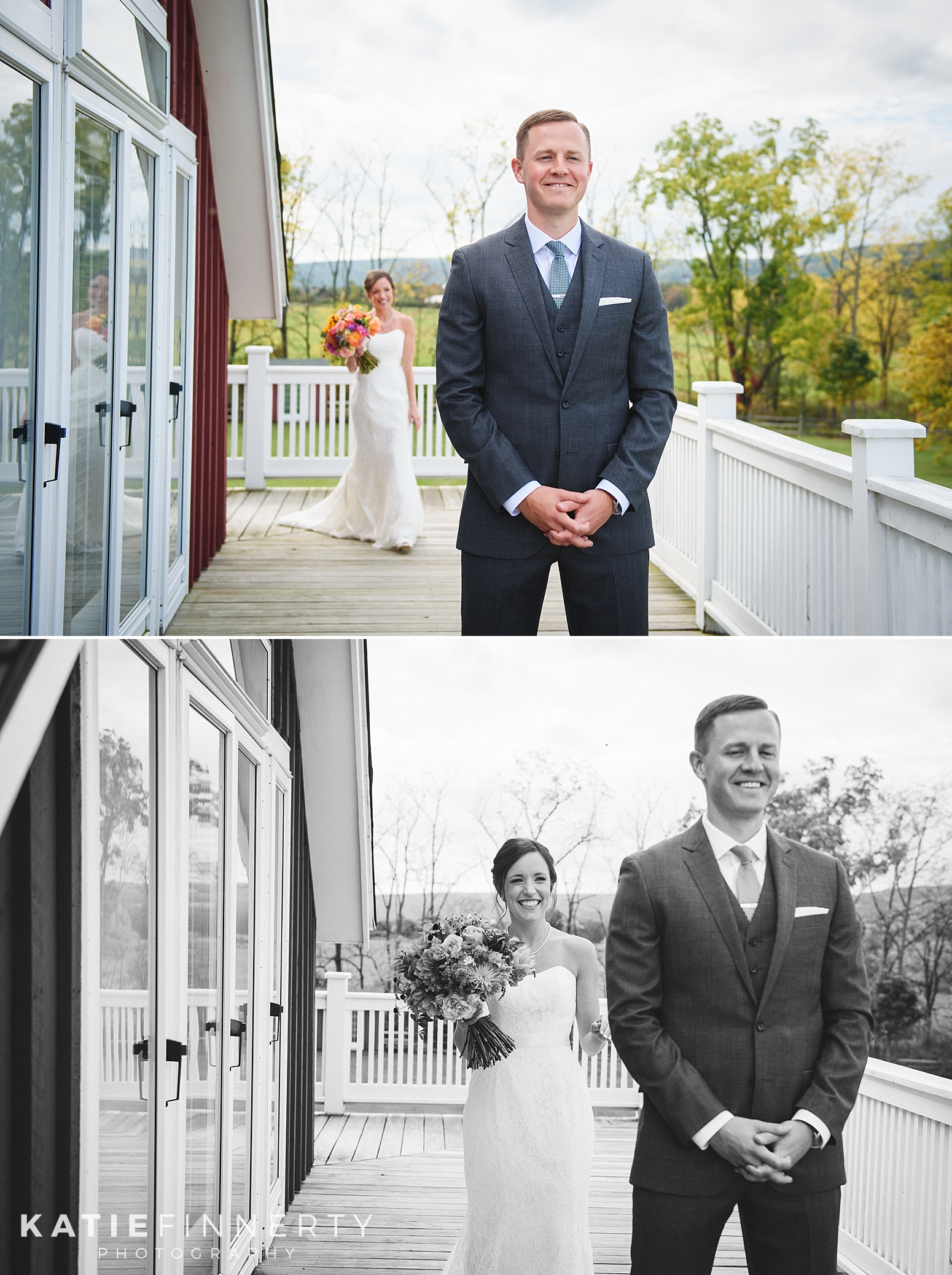 First Look Finger Lakes Wedding Photography