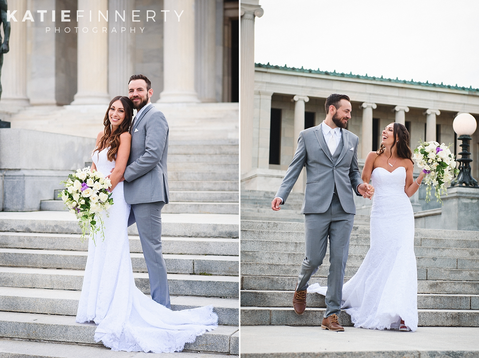 Albright Knox Buffalo Summer Wedding Photography