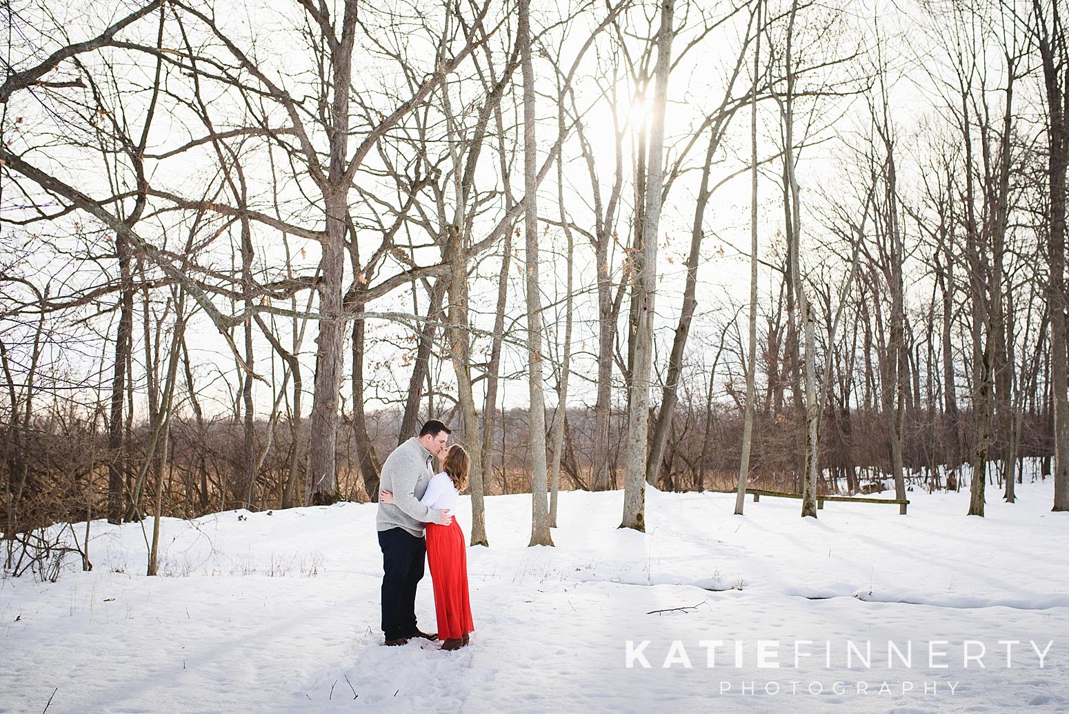Mendon Ponds Park Rochester Winter Engagement Photography