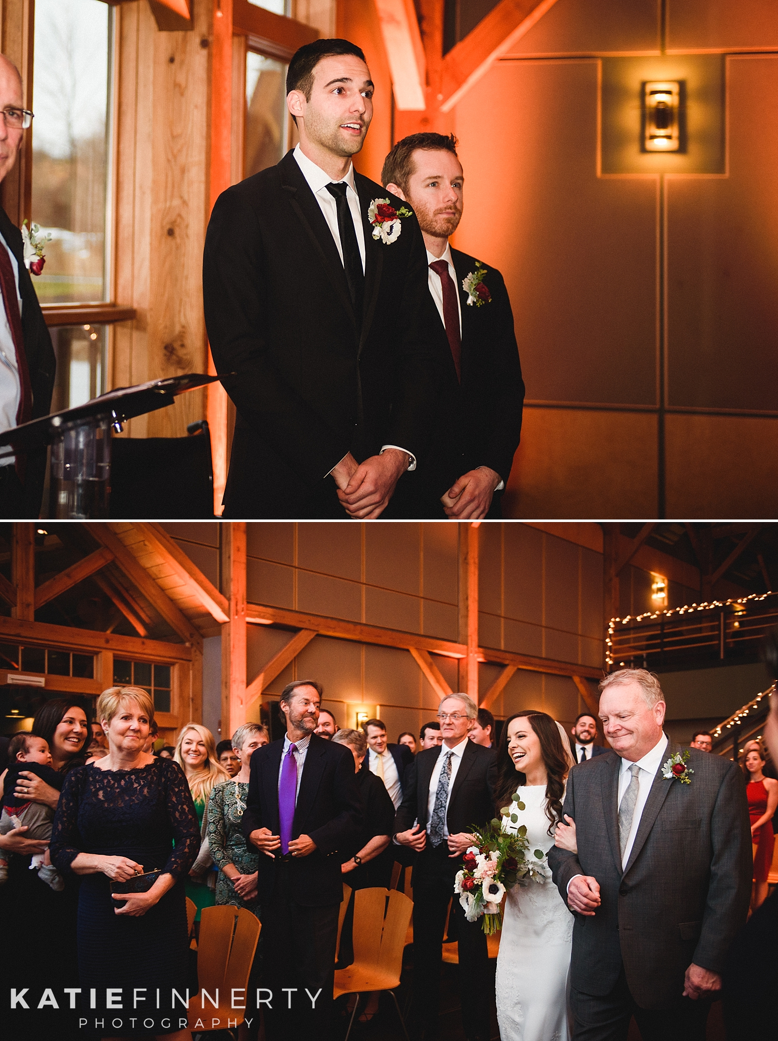 Lodge at Welch Allyn Skaneateles Winter Wedding Photography