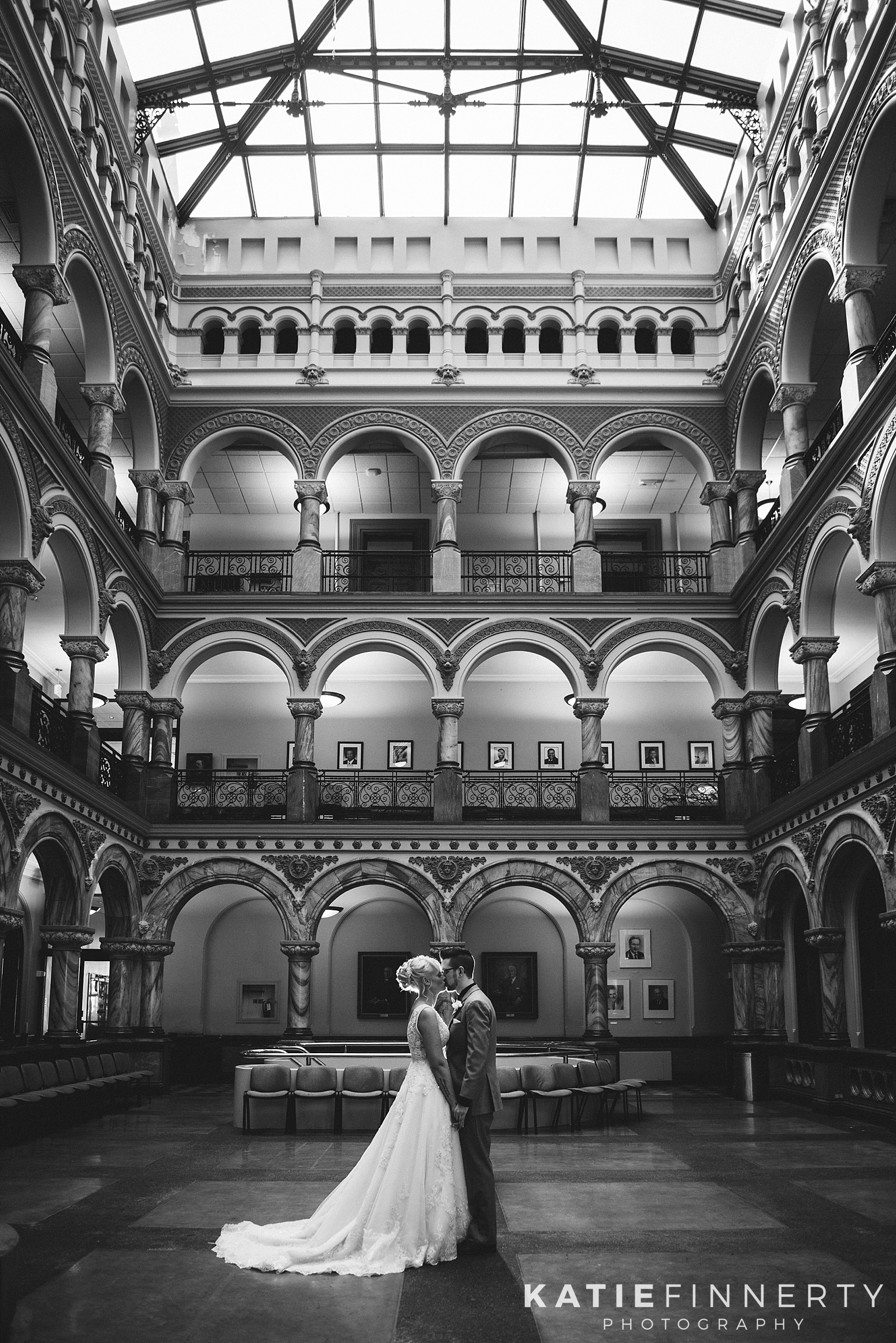 City Hall Atrium Rochester Wedding Photography