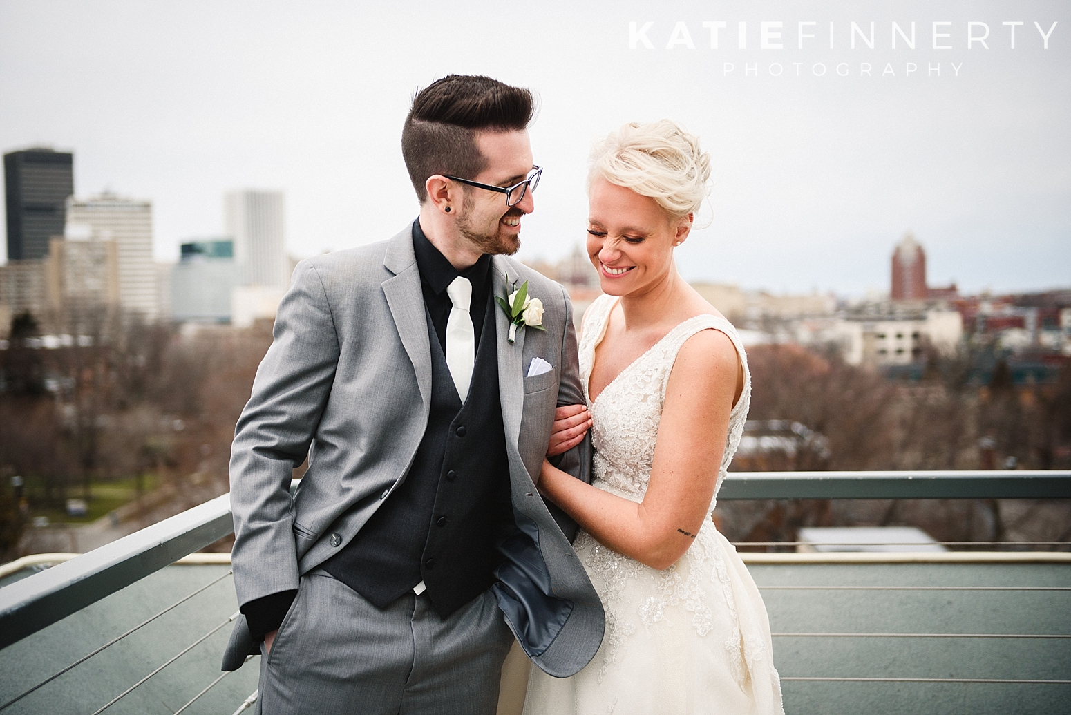 Strathallan Rooftop Rochester Wedding Photography