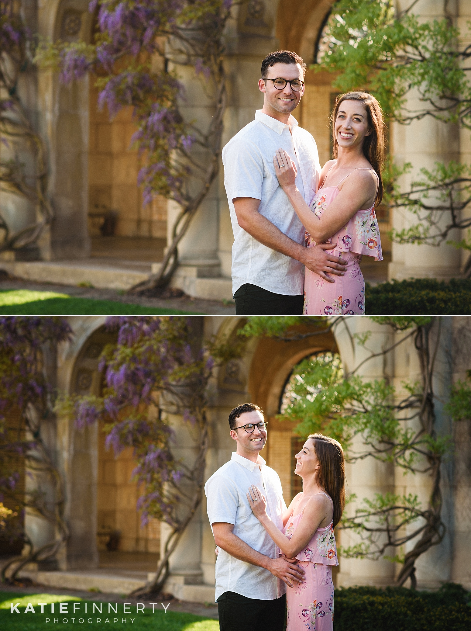 George Eastman Gardens Rochester Engagement Photography
