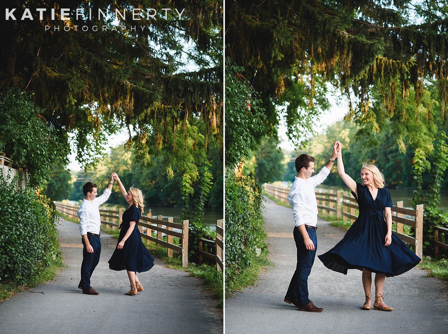 Pittsford Canal Rochester Engagement Session Photography