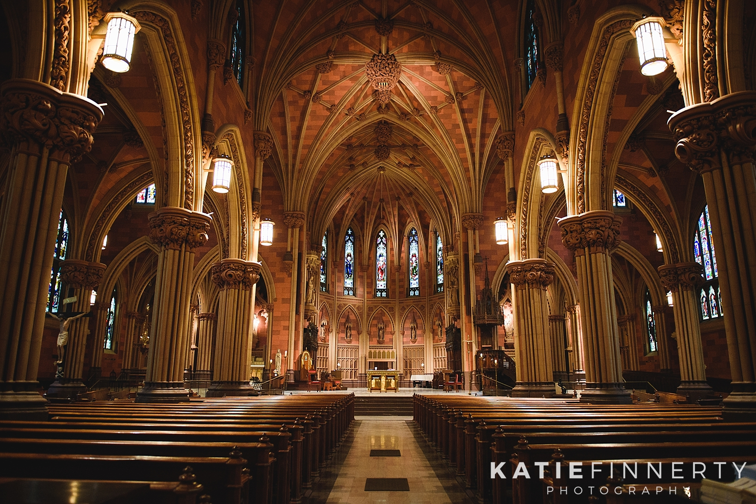 Cathedral of Immaculate Conception Downtown Albany Wedding Photography