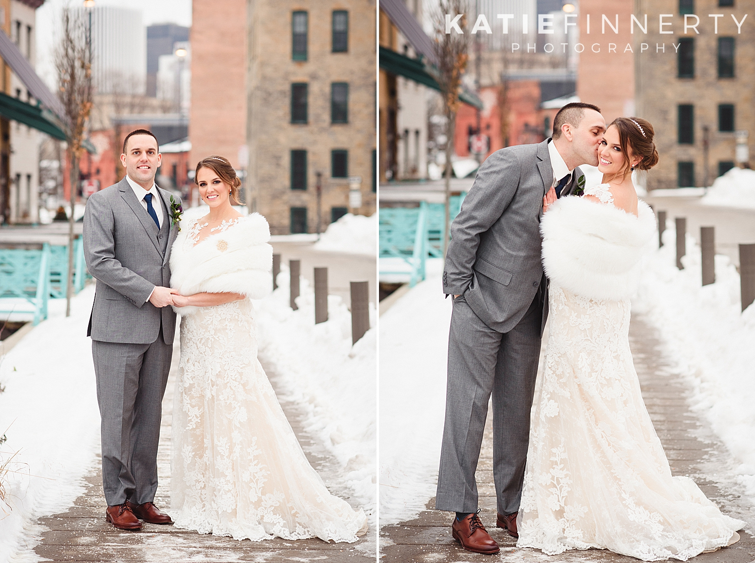 High Falls Rochester Winter Wedding Photography