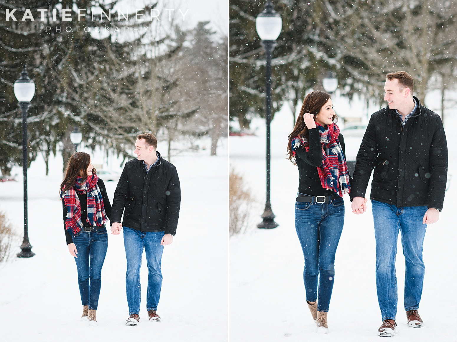 Saratoga Winter Engagement Session Photography