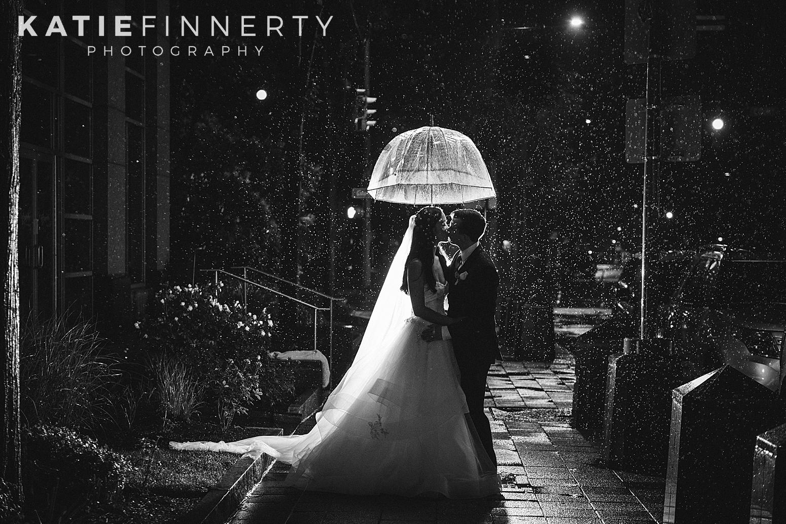 Wintergarden Night Rain Downtown Rochester Wedding Photography