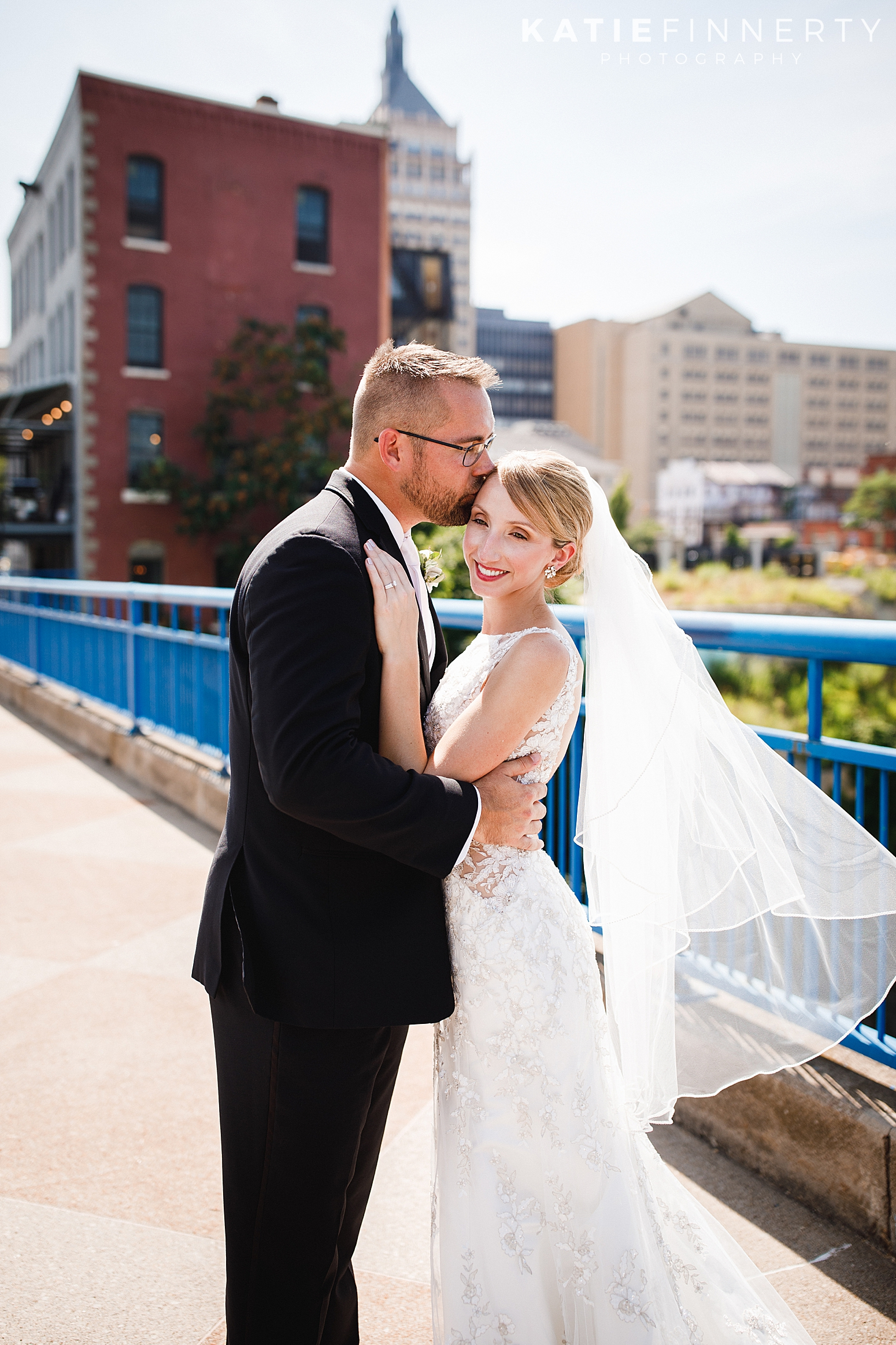 High Falls Downtown Rochester Wedding Photography