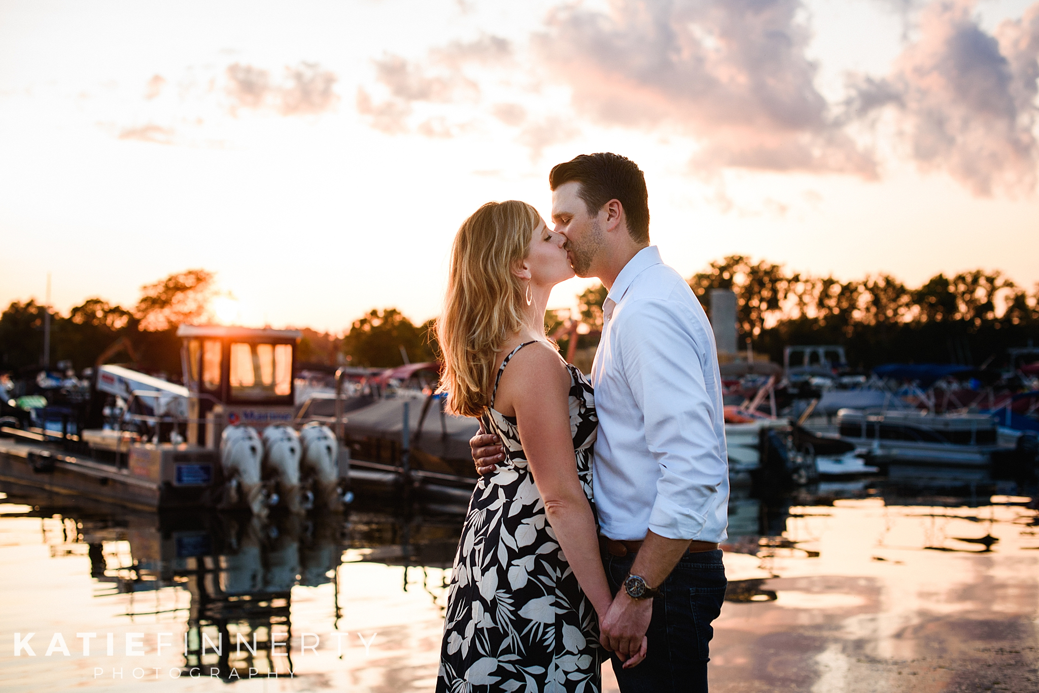 Canangaigua Lake Sunset Engagement Session