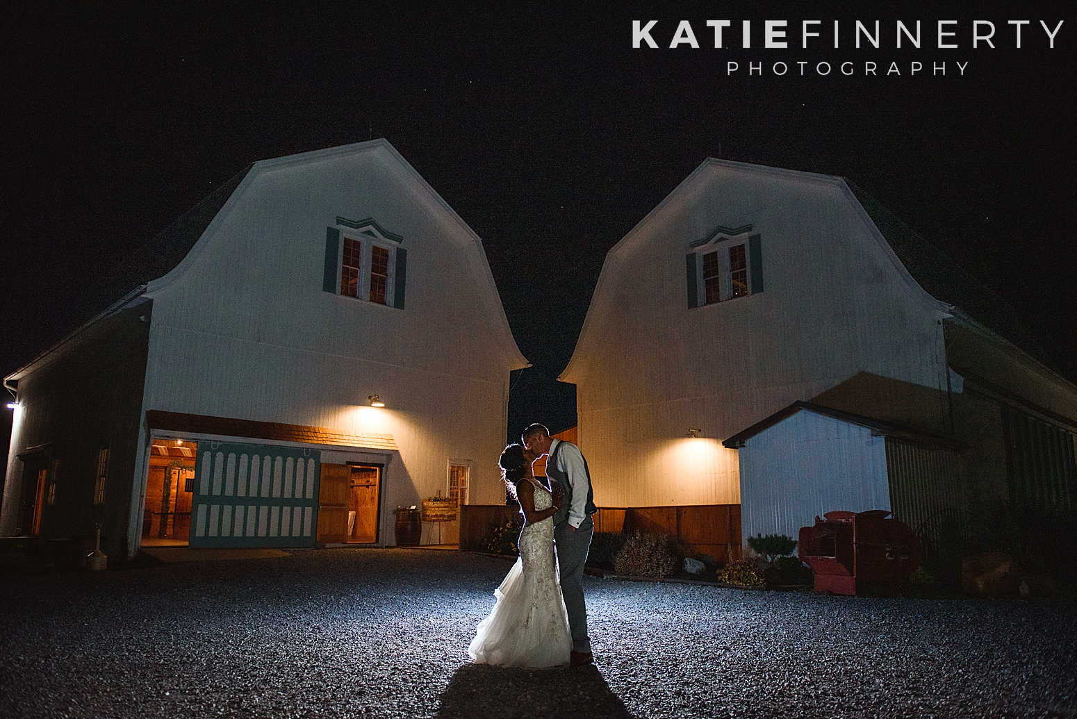 Backlit Night Wedding Photography Rochester