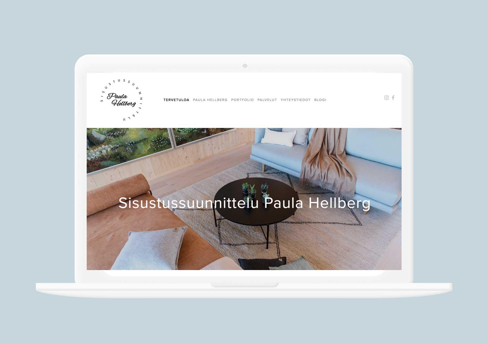 Sisustussuunnittelu Paula Hellbergin nettisivut