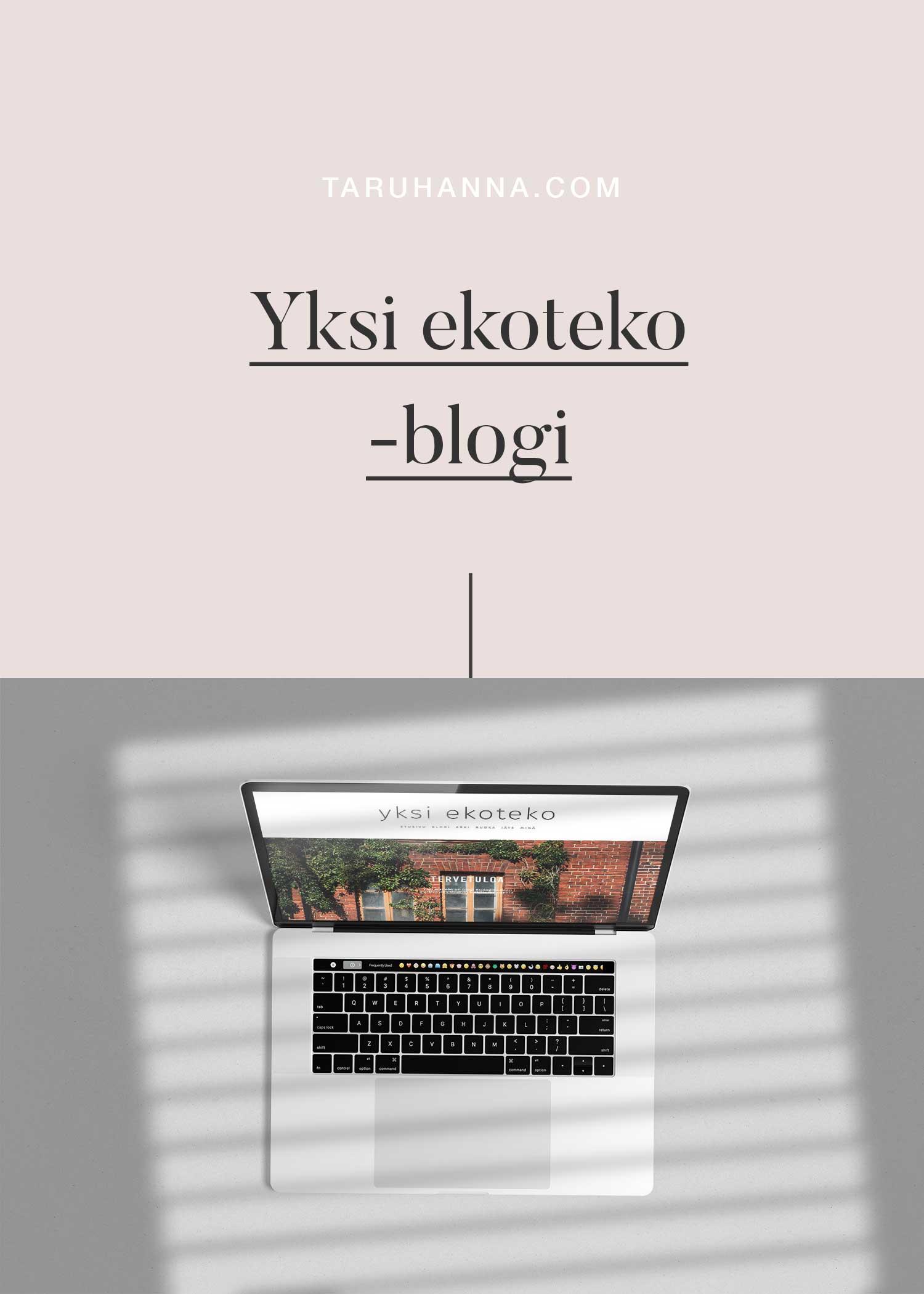Yksi ekoteko blogi