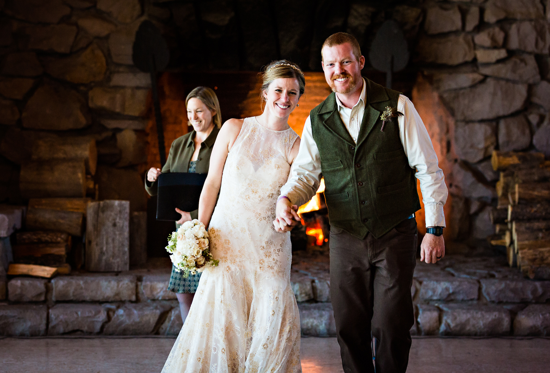 Yellowstone Wedding Becky Brockie Photography Ceremony Exit