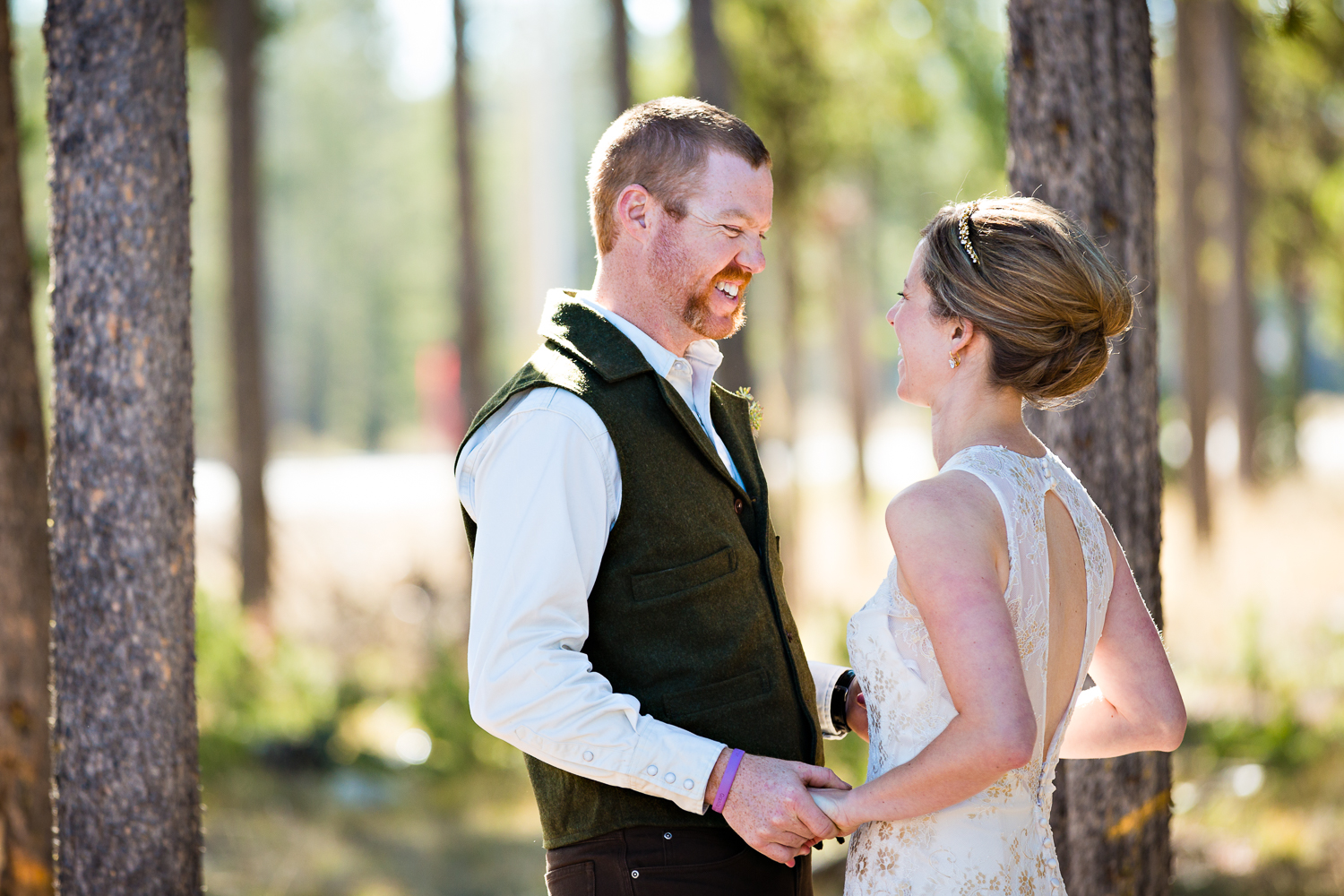 Yellowstone Wedding Becky Brockie Photography First Look