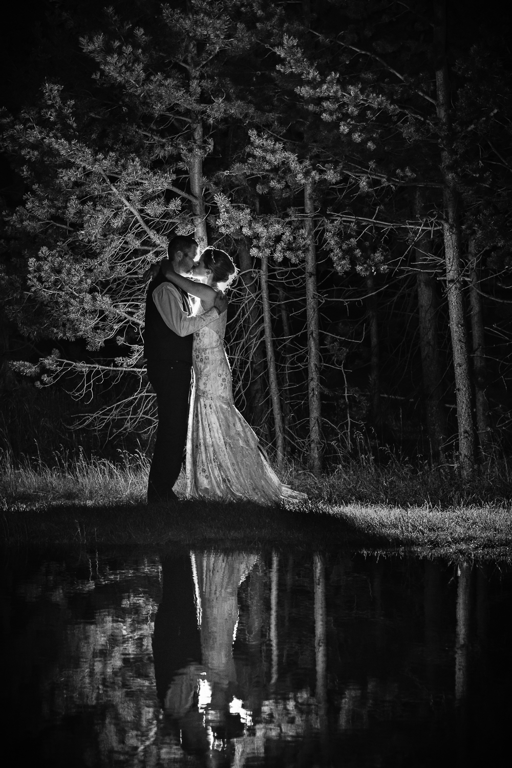 Yellowstone Wedding Becky Brockie Photography Couple Forest Image