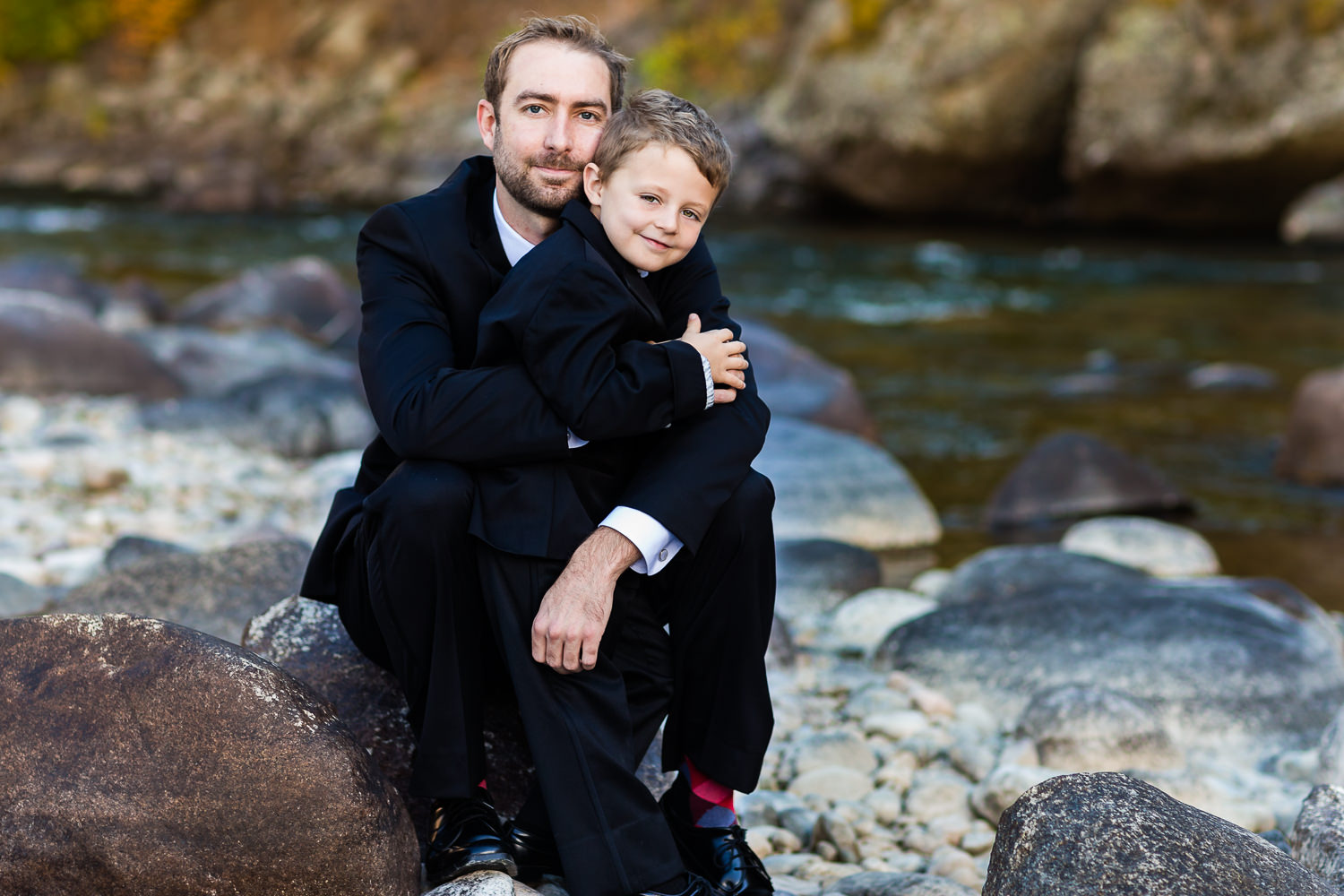 Joe and his son Chase enjoyed some time together before the ceremony. Chase also served as the ring bearer.