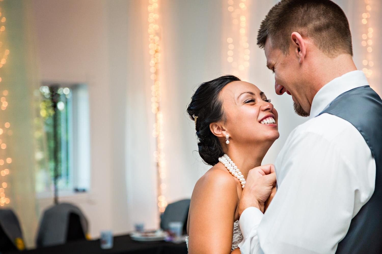 billings-montana-chanceys-wedding-reception-first-dance-bride-groom-smiling.jpg