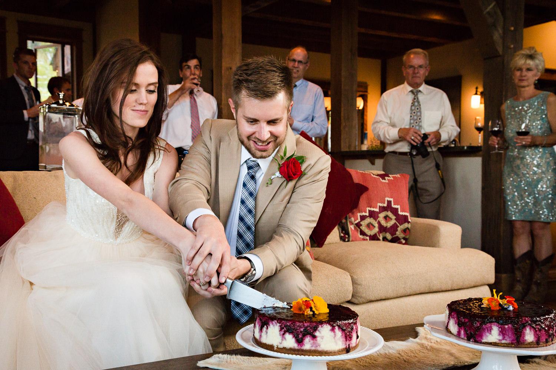 big-sky-wedding-becky-brockie-photography-reception-cheesecake-cutting.jpg