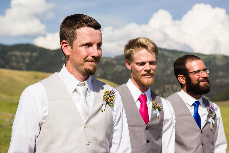 bozeman-montana-wedding-groom-watches-bride.jpg