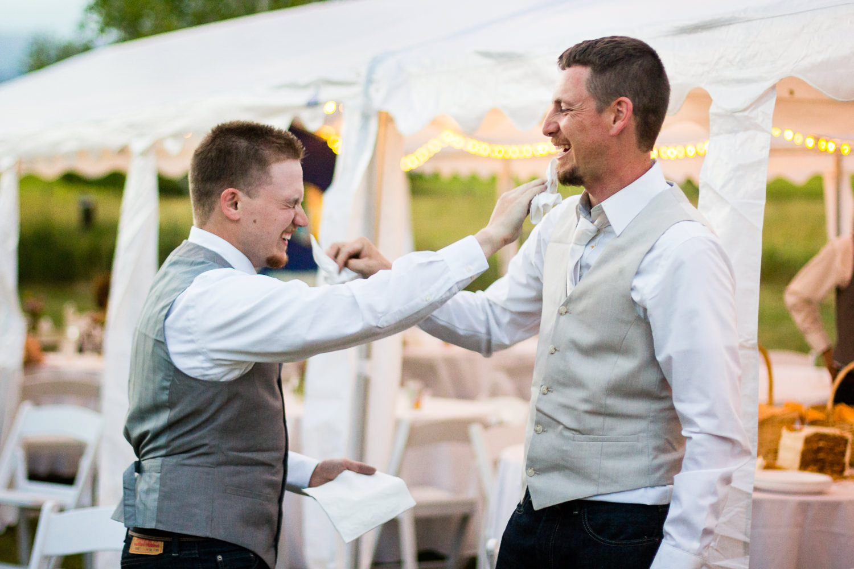 bozeman-montana-wedding-groomsman-groom-cake-smash.jpg