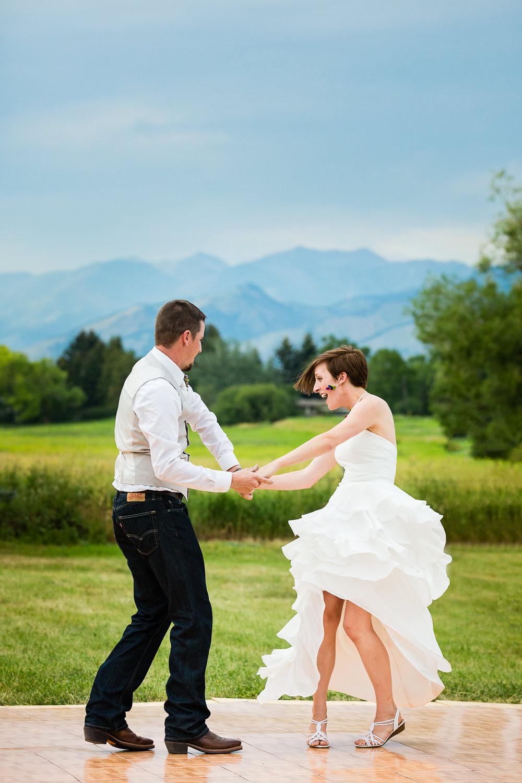The first dance under Bozeman's Bridger Mountains