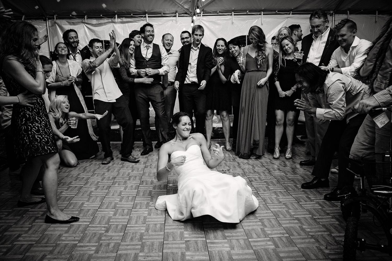 big-sky-montana-wedding-reception-bride-playing-air-guitar.jpg