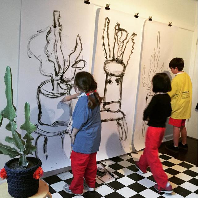 Peta Morris Artist & Art Teacher Students at Work