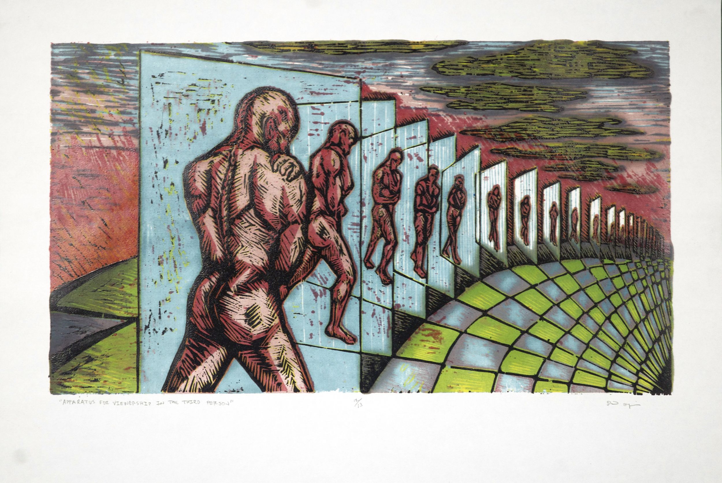 Apparatus For Viewership in the Third-Person, 6 color woodblock 2014