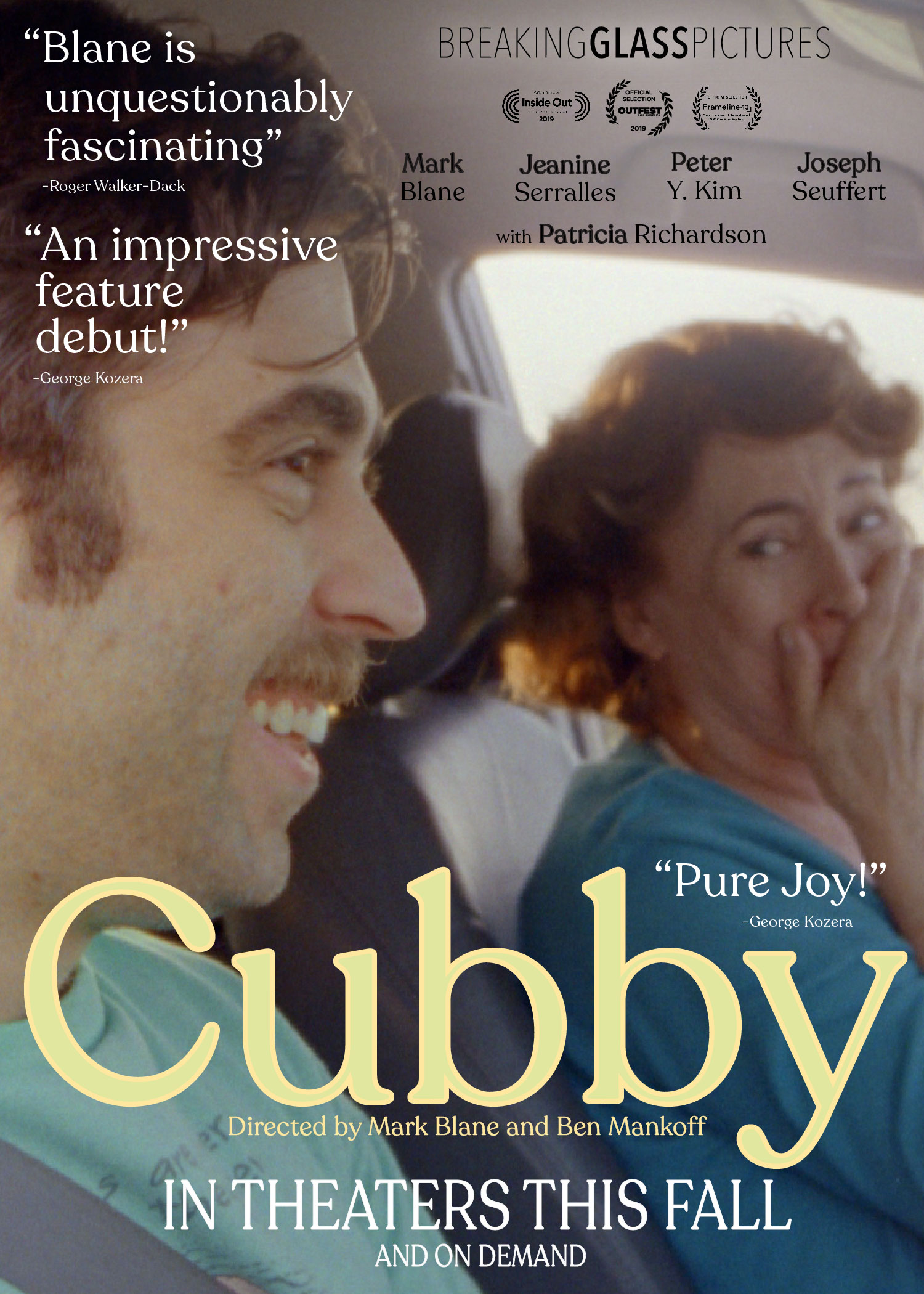 CUBBY IN THEATERS AND ON DEMAND THIS FALL 2019 - Breaking News: Check out the full article on Broadway World.comBreaking Glass Snuggles Up To Indie Gem CUBBYBreaking Glass Pictures has acquired North American rights to the eccentric, lovable LGBTQ feature CUBBY.Breaking Glass acquired rights to the film in April in a deal negotiated between Breaking Glass CEO Rich Wolff and Jordan Mattos, Managing Director of Aspect Ratio Films. CUBBY will open theatrically in New York City, followed by a DVD & VOD…