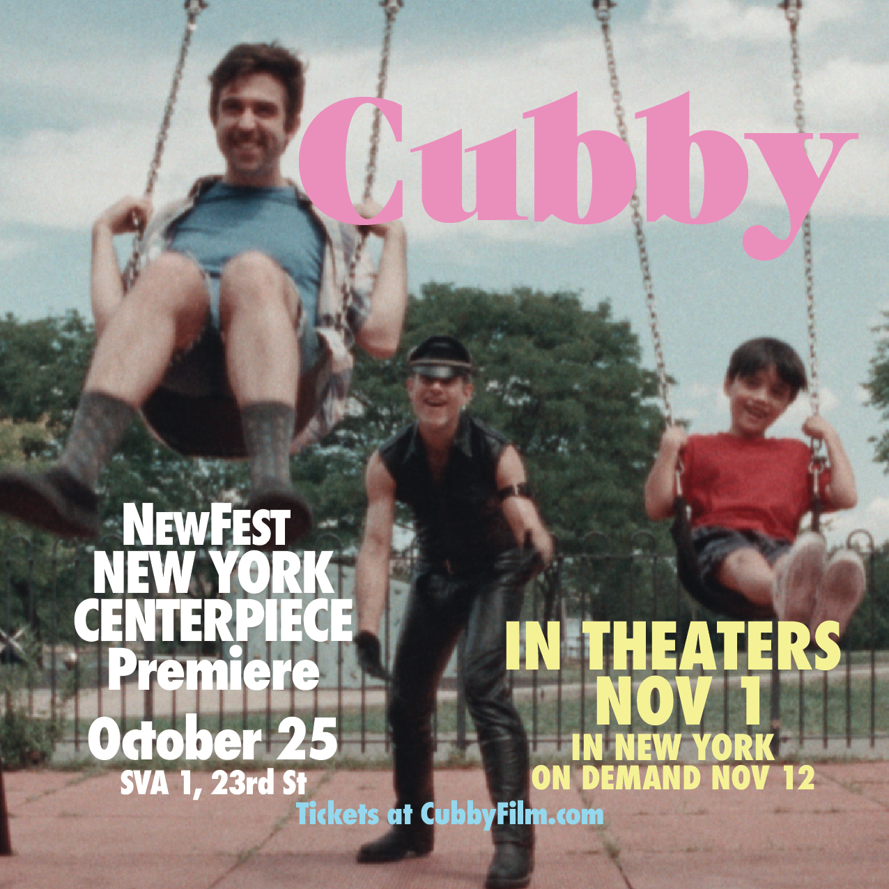 "Cubby is the NY Centerpiece screening at NEWFEST - ""With a bold voice reminiscent of heyday 90s independent cinema, CUBBY gives a whole new meaning to ""adventures in babysitting."" Written and co-directed by breakout star Mark Blane and shot in crisp 16mm… a heartwarming performance by Emmy Award-nominee Patricia Richardson (HOME IMPROVEMENT). CUBBY is sure to make you reconnect with your inner child and remind you why you fell in love with this crazy city."" Read more here."