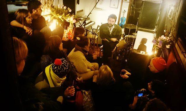 Adam Weymouth telling a story, 2nd night Feral album launch