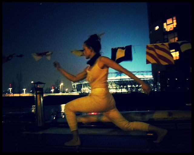 Debbie Porter dancing to Feral and the weather. #feral #tjalk #hackneywick #albumlaunch #river