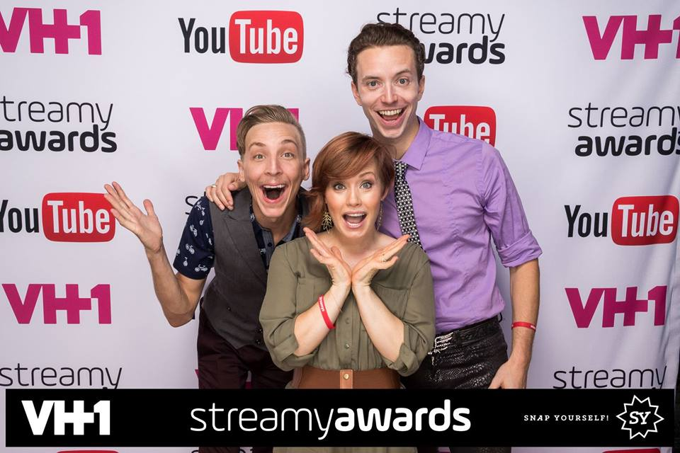 With Brennan Murray and Graham Kurtz at the 2015 Streamy Awards - New Peter Wendy was nominated for Best Indie Series!