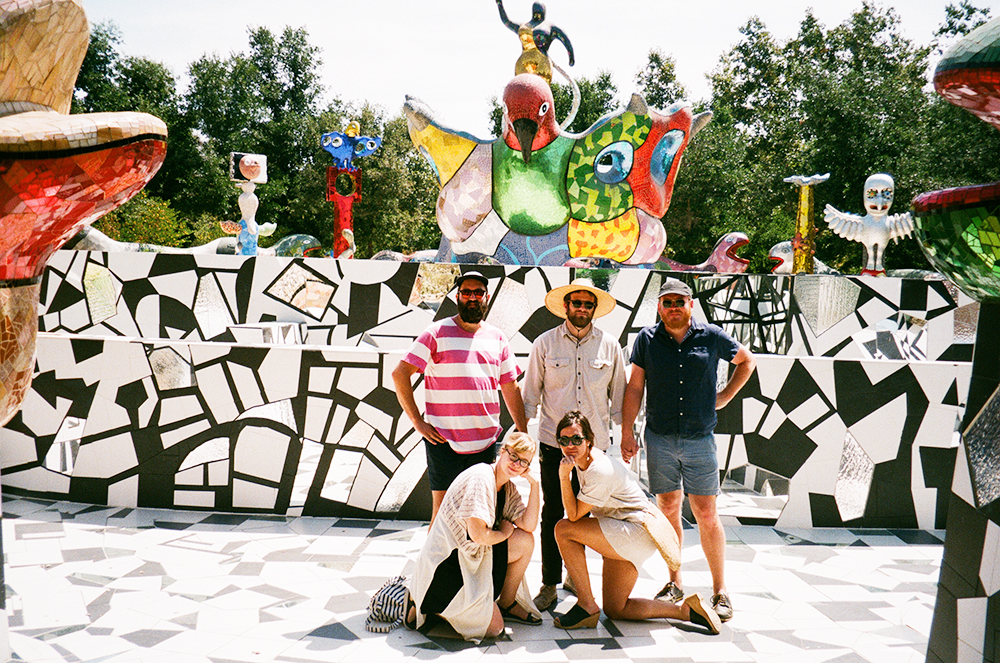 Friends at Queen Califia's Magical Circle by French Sculpture Artist Nikki De Saint Phalle, CA.