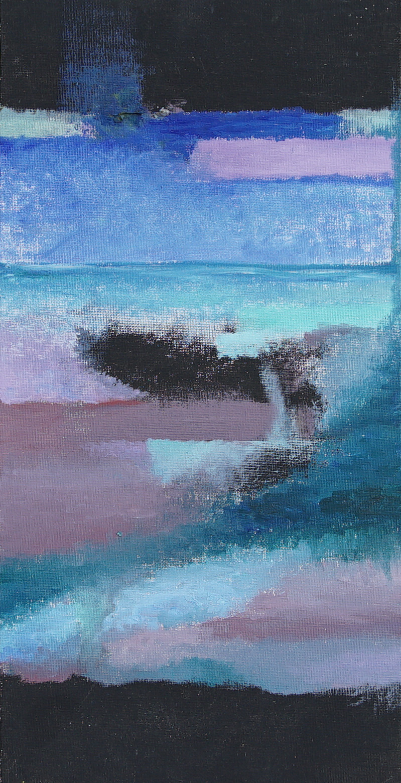 Seaside. Oil on canvas panel.