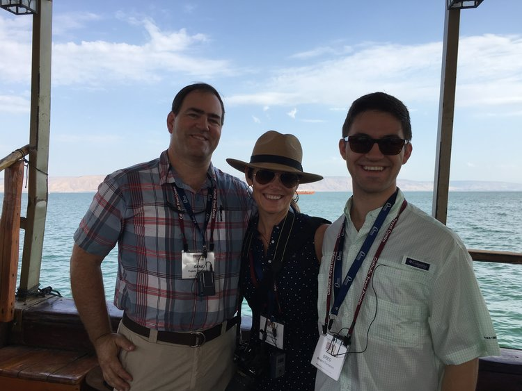 Sailing on the Sea of Galilee with my parents, Oct 2015